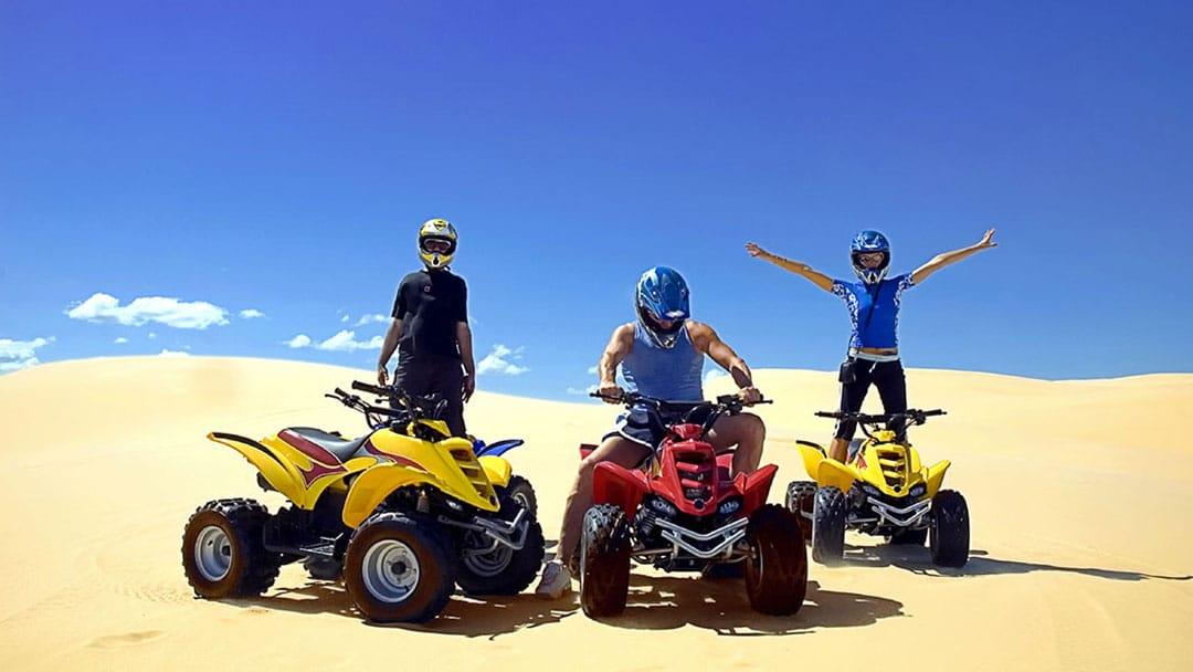 ATV Riders Having a Sand Blast in the Pismo Dunes